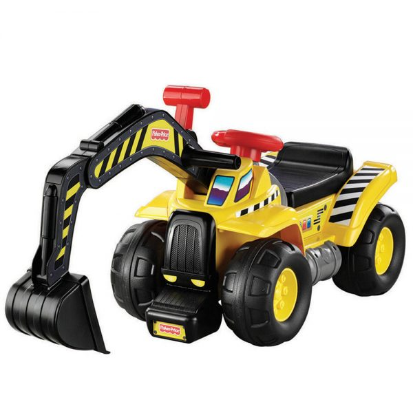 Fisher-Price Big Action Dig N' Ride-On with Crane