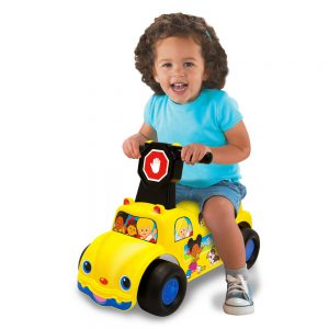 Fisher-Price School Bus Push N' Scoot Ride-On