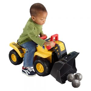 FISHER PRICE BIG ACTION LOAD N GO RIDE-ON WITH ACTIVITY DASH